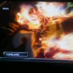LeBron burning jersey