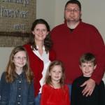 Atkinson family on Christmas Eve 2010