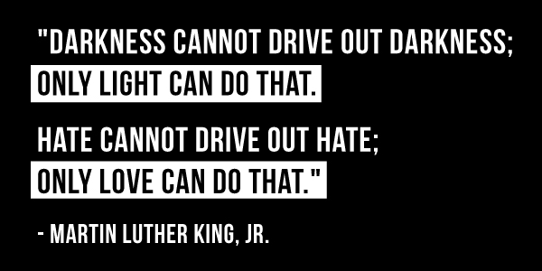 martin luther king quote response Too often, dr martin luther king jr's most famous speech is distilled to hopeful  platitudes which erase his legacy as a radical disrupter of the.